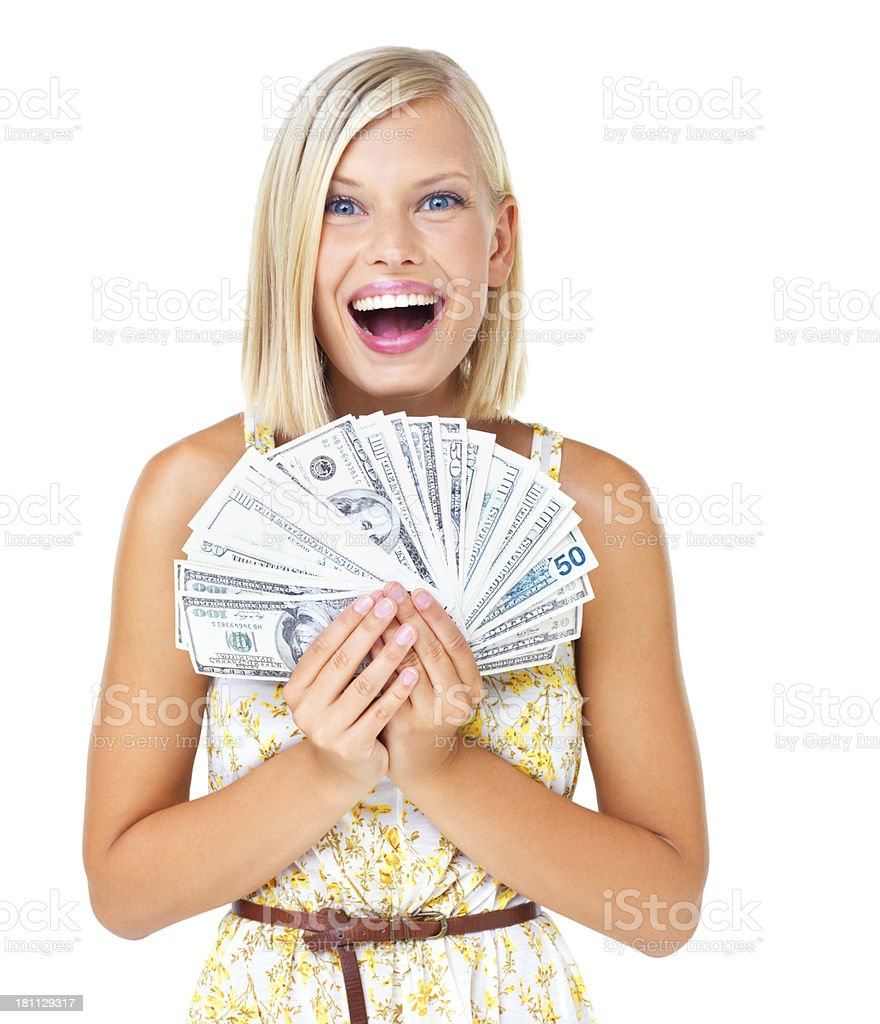 Money can buy happiness royalty-free stock photo