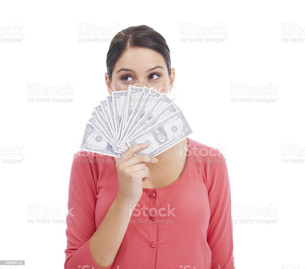 Money can silence anything royalty-free stock photo