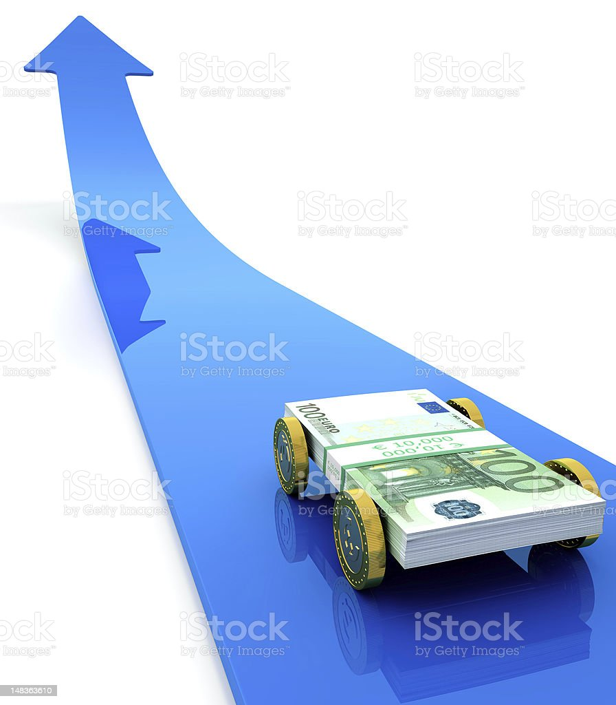 Money car royalty-free stock photo