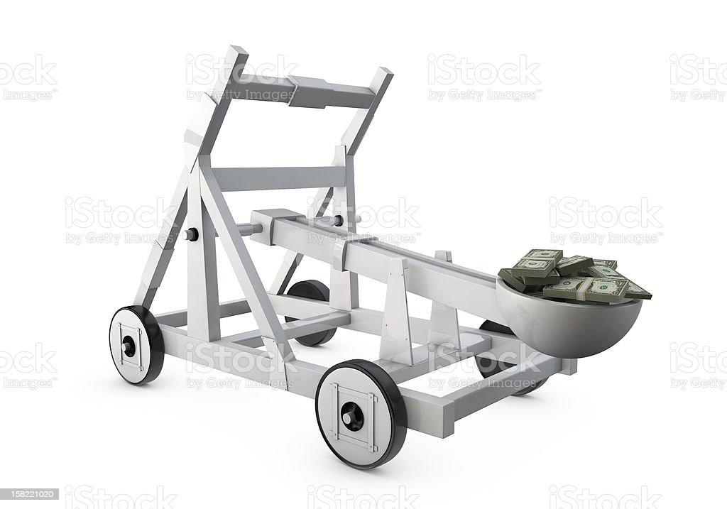 Money Catapult stock photo