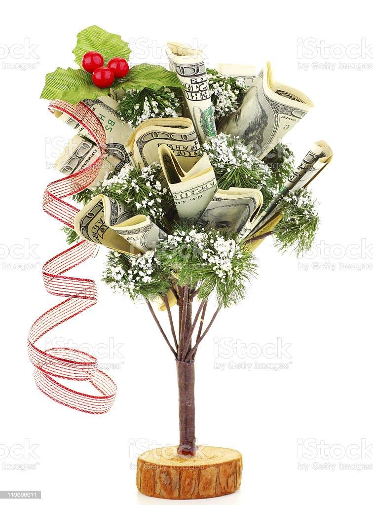 Money Christmas tree royalty-free stock photo
