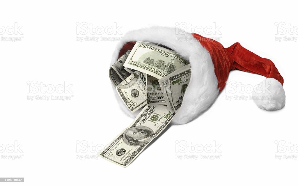 Money Christmas& Wealthy New Year royalty-free stock photo