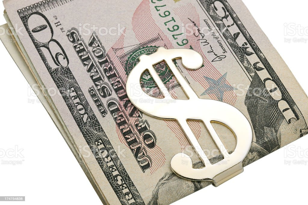 Money Clip and Cash stock photo