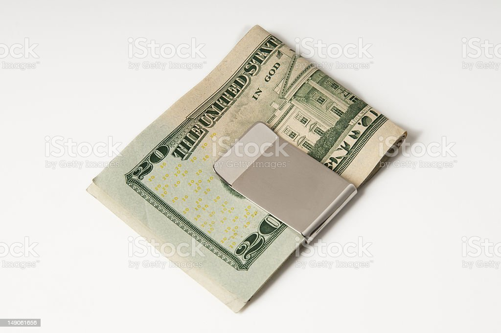 Money clip royalty-free stock photo