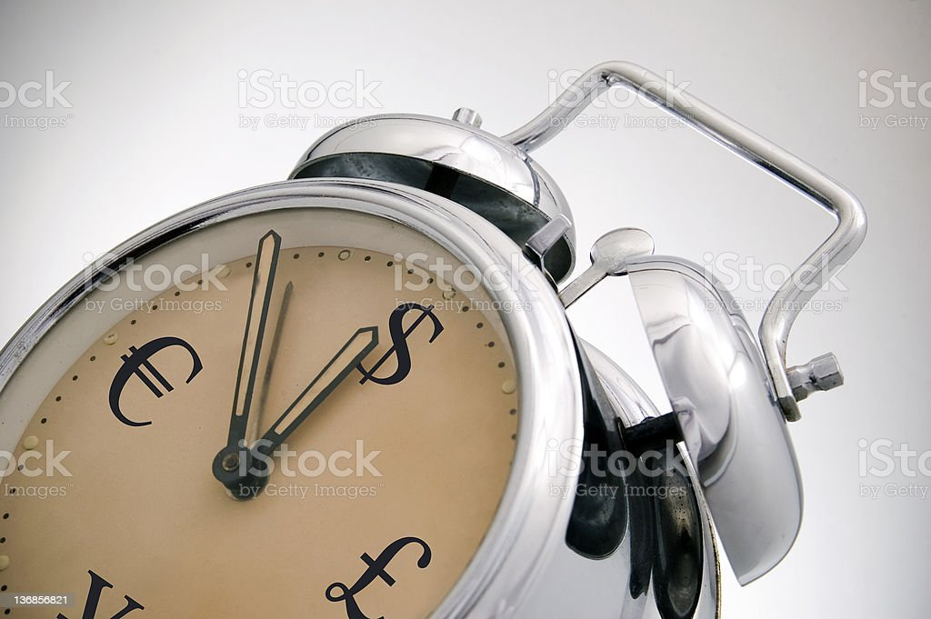 money clock exchange royalty-free stock photo