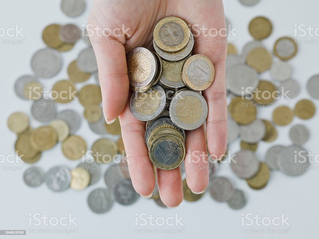 money coins royalty-free stock photo