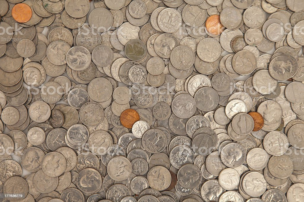Money coins pile royalty-free stock photo