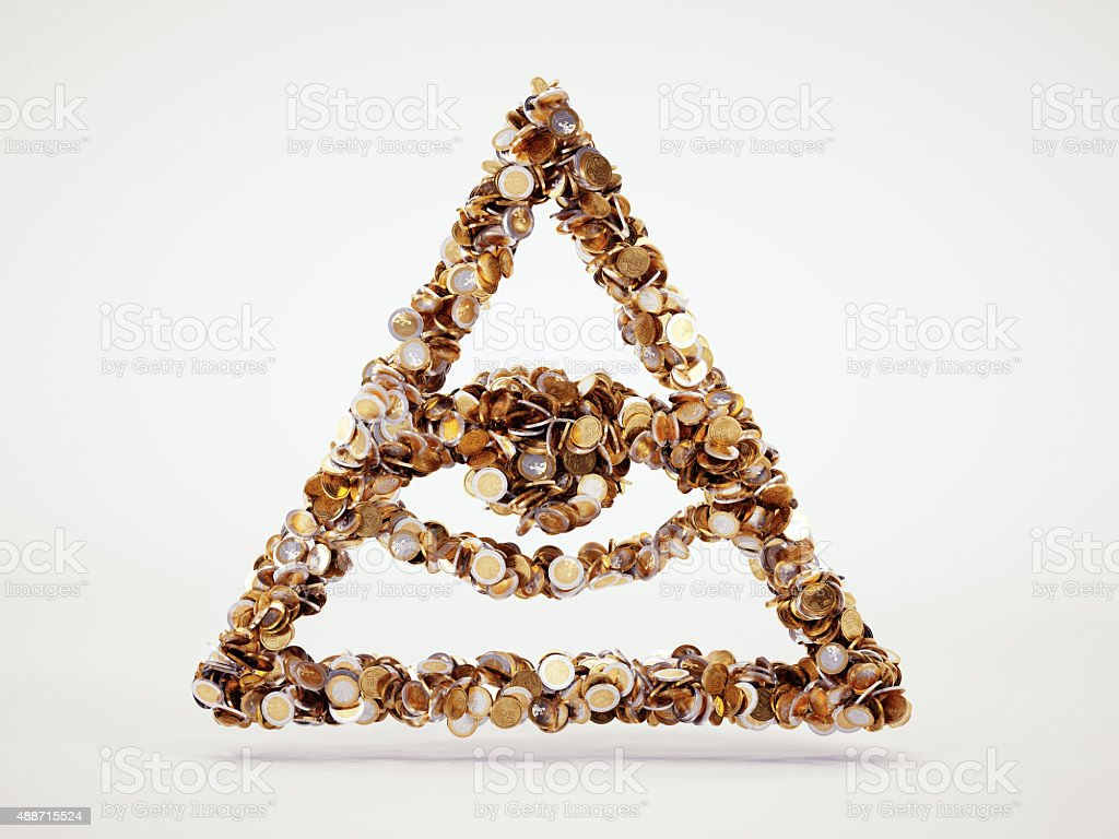 money conspiracy sign stock photo