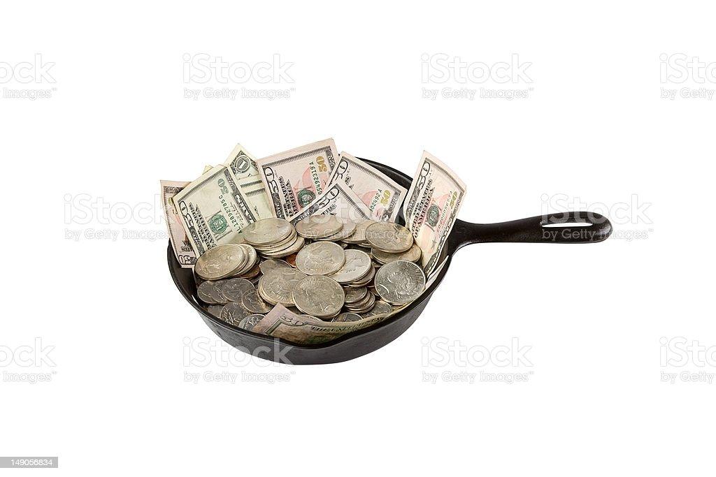 Dinheiro de cozinhado foto de stock royalty-free
