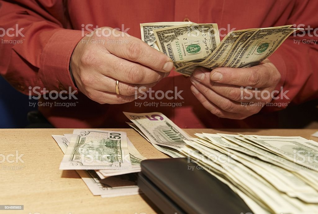 Money counting stock photo