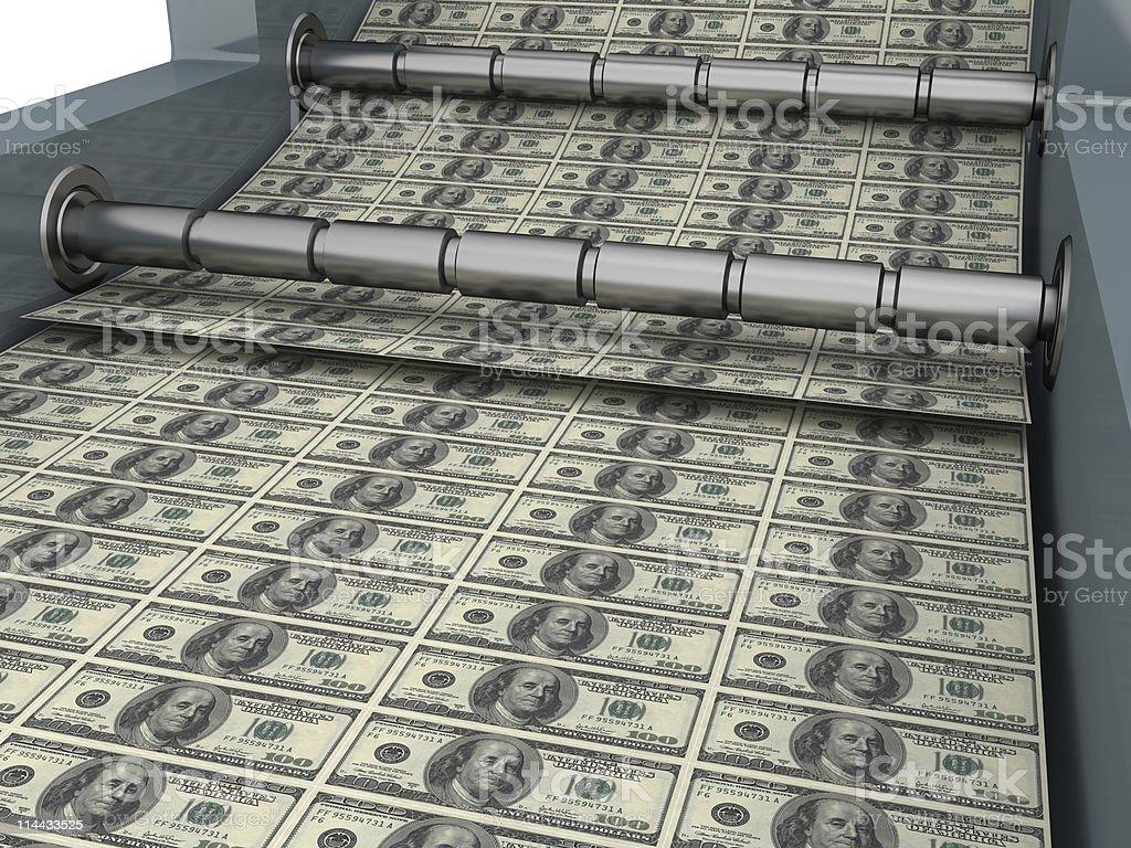 Money creation royalty-free stock photo