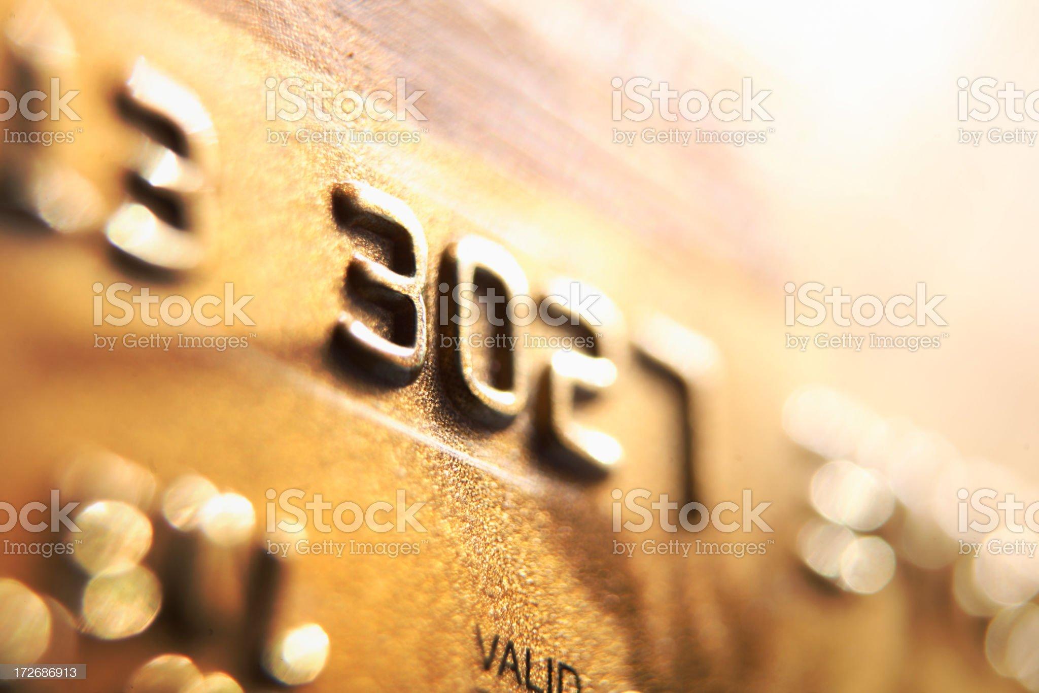 Money: Credit Card royalty-free stock photo