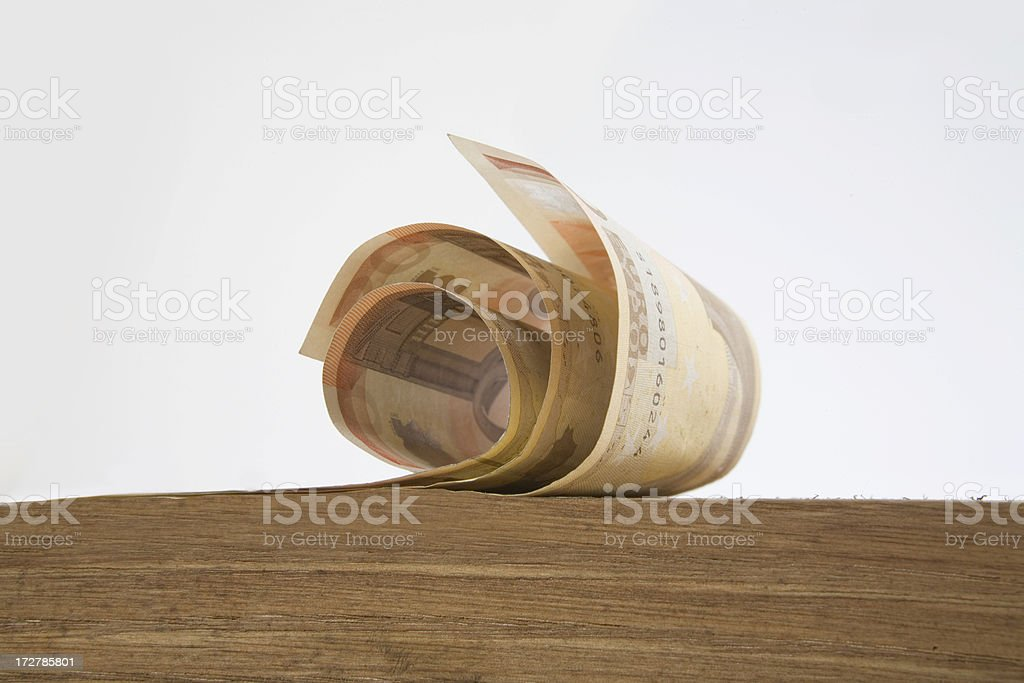 Money curl royalty-free stock photo