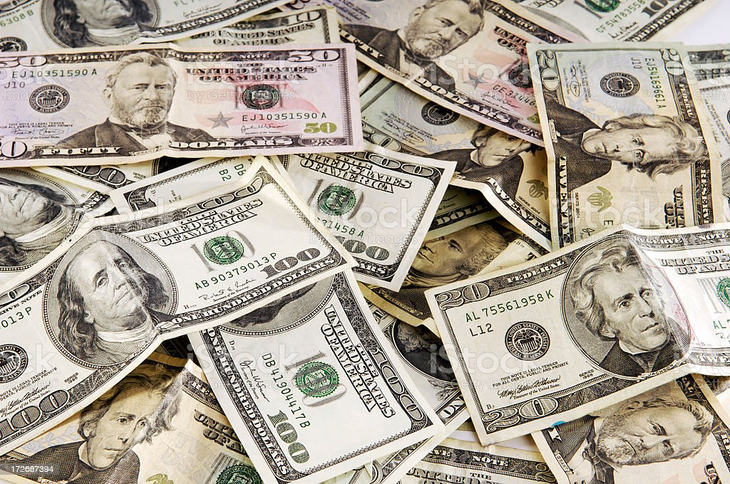 Money Currency American Cash stock photo