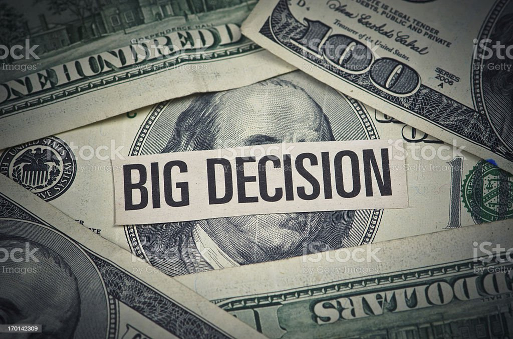 Money Decisions stock photo