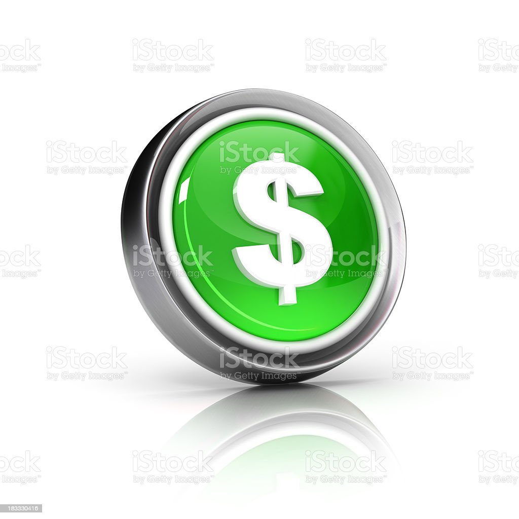 money dollar icon stock photo