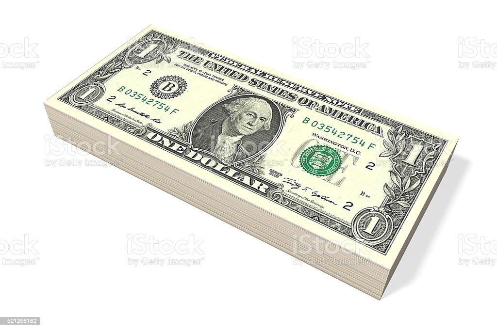 3D money/ dollars concept stock photo