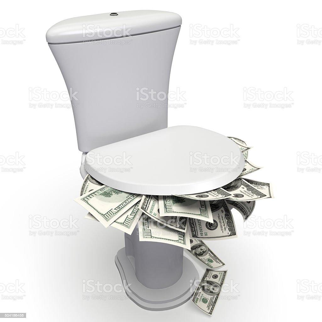 Money Down stock photo