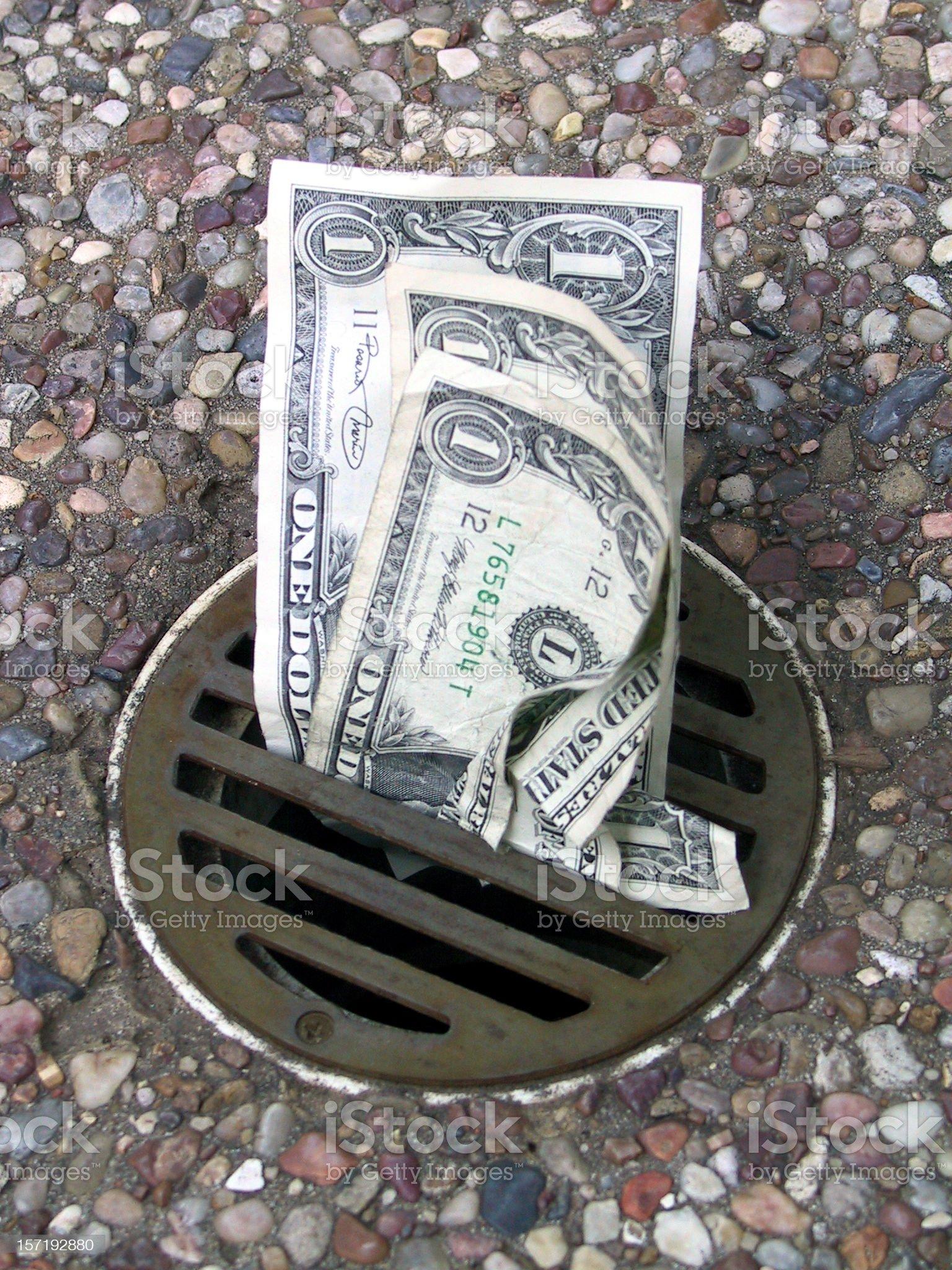 Money Down the Drain 4 royalty-free stock photo