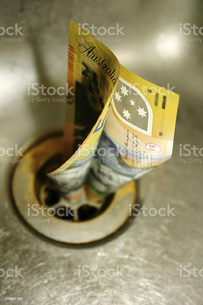 Money down the sink : ( stock photo