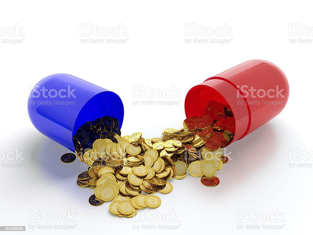 Money drugs royalty-free stock photo