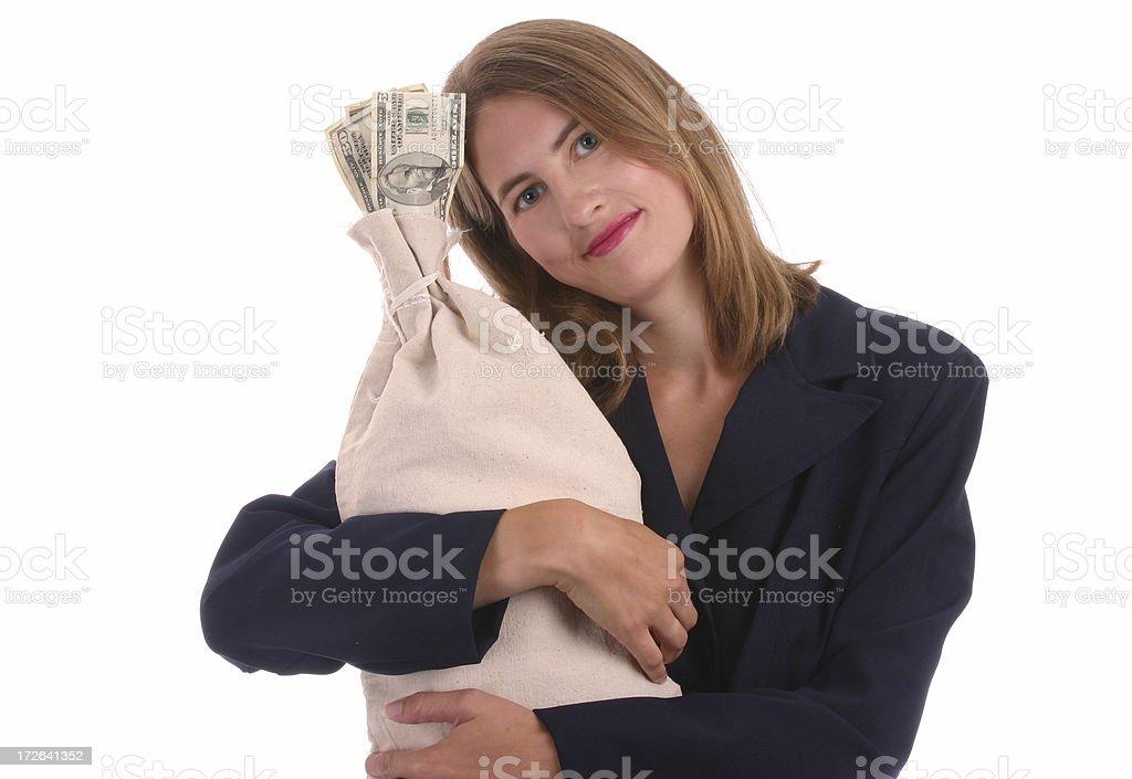 Money Embrace royalty-free stock photo