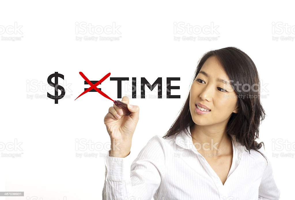 money equals time concept royalty-free stock photo