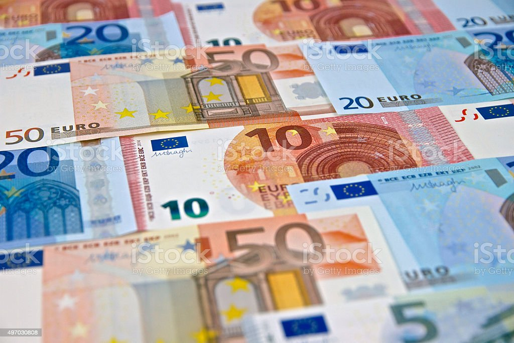 Money - Euro Banknotes - European Union Currency stock photo