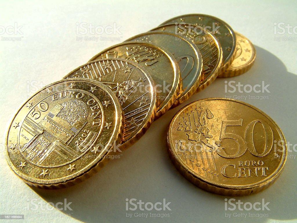 money - euro cents stock photo