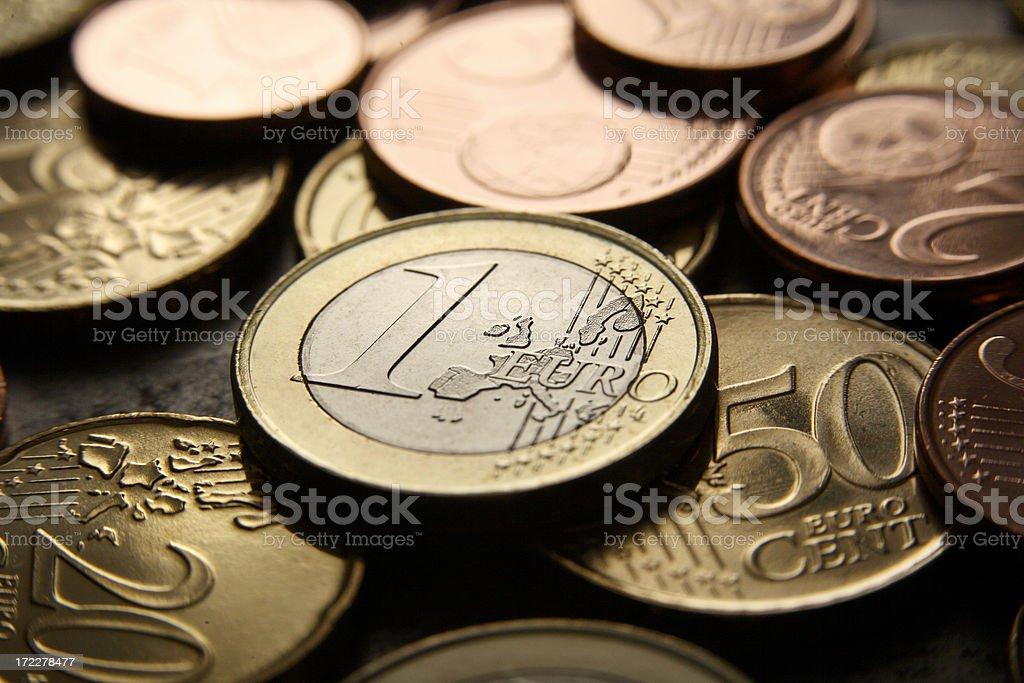 Money: Euro Coins royalty-free stock photo