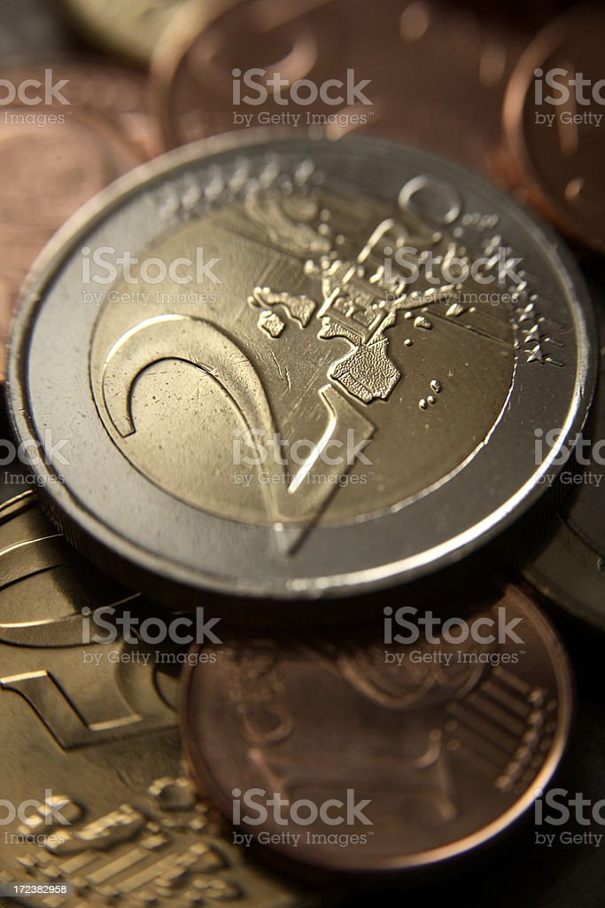 Money: Euro Coins royalty-free stock photo