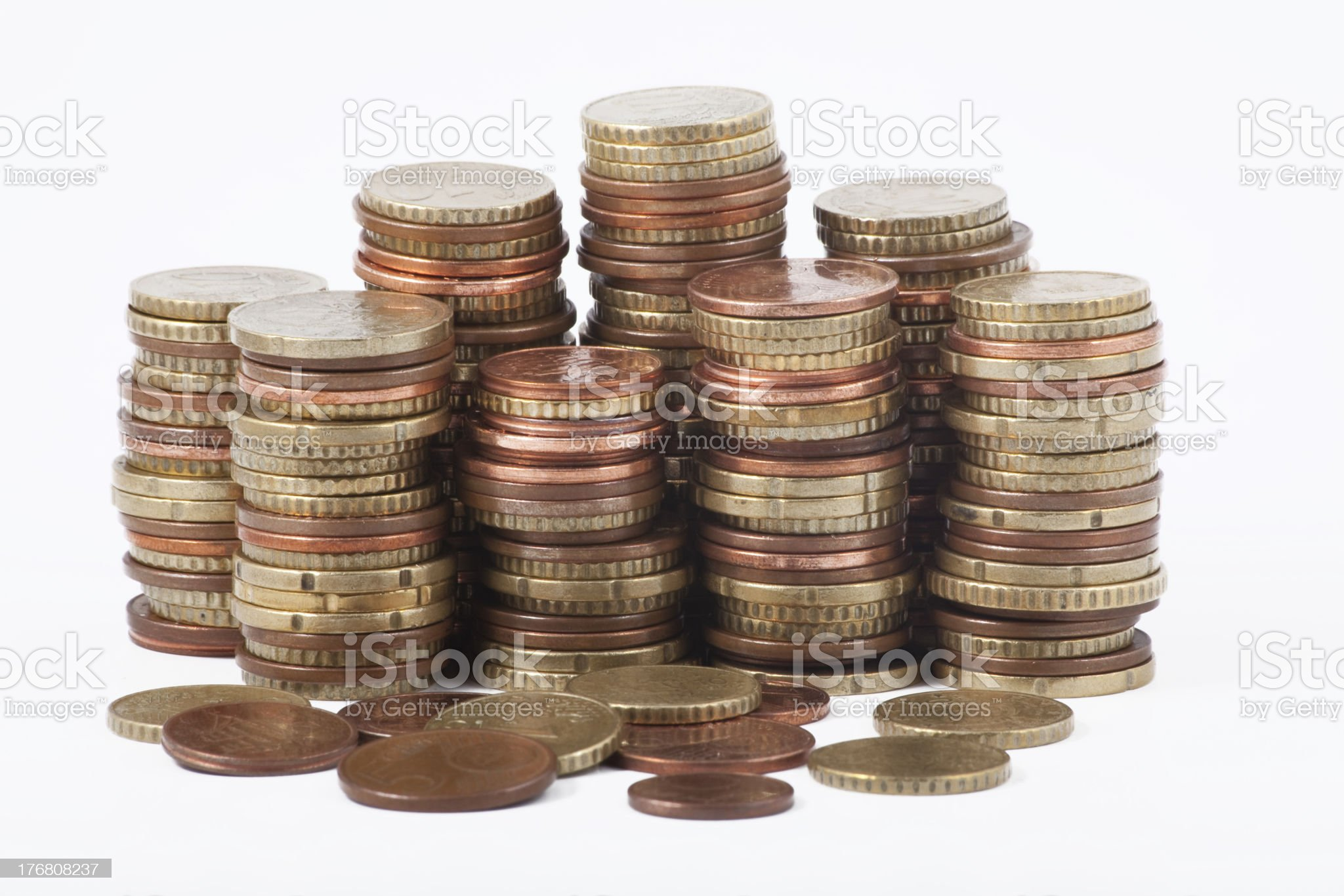 Money - Euro coins royalty-free stock photo