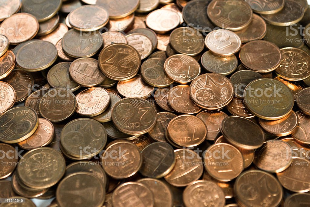 Money: Euro Coins stock photo