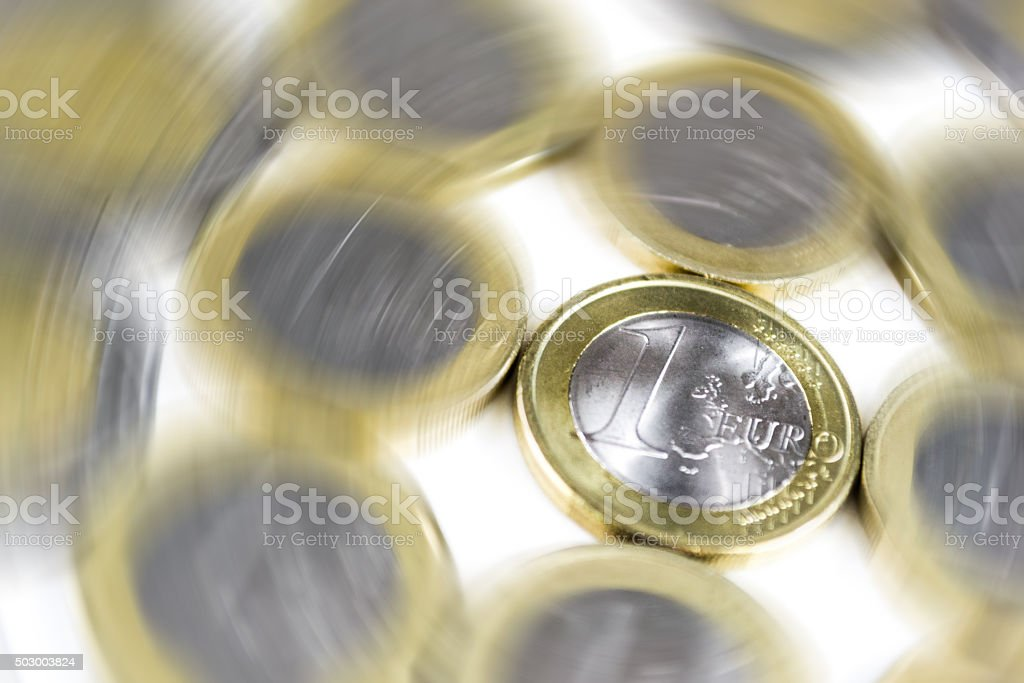 Money: Euro Coins stock photo