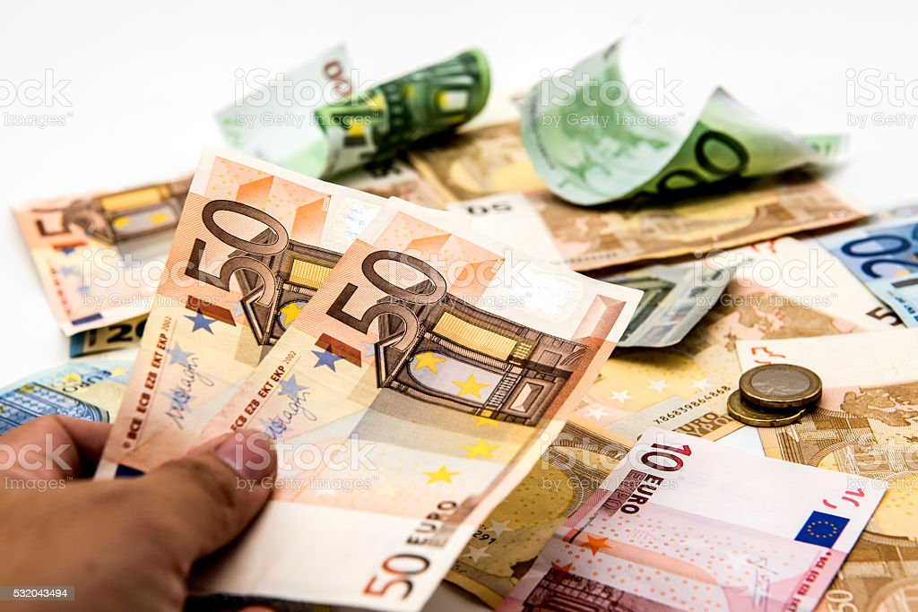 Money, Euro currency stock photo