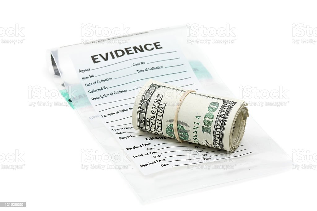 Money evidence stock photo