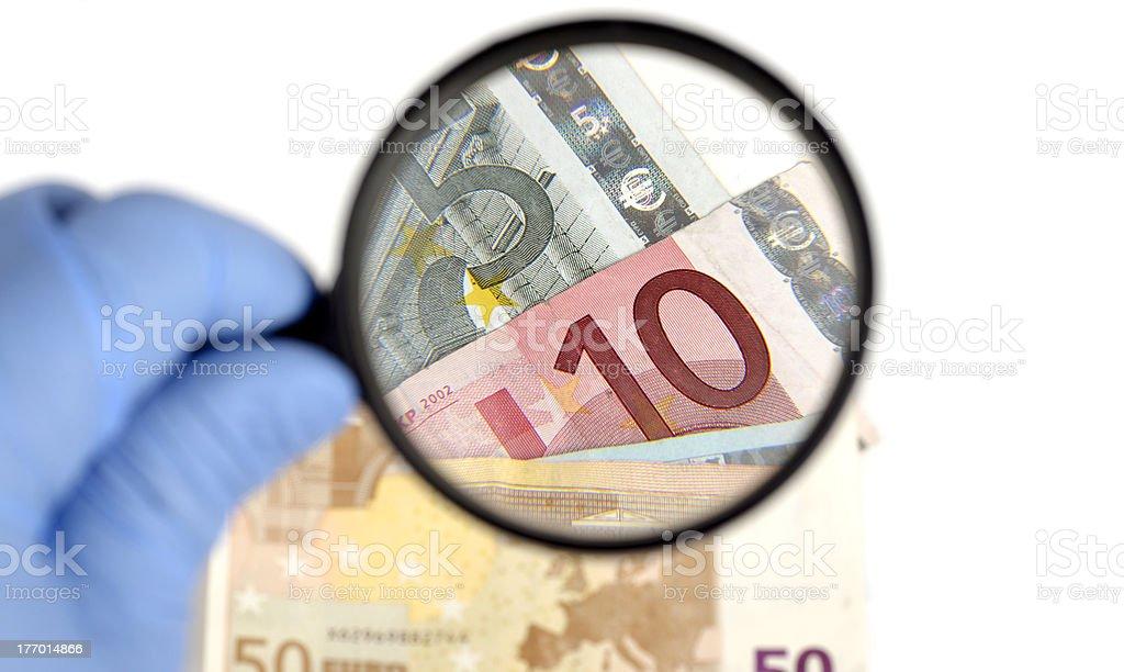 Money examination royalty-free stock photo