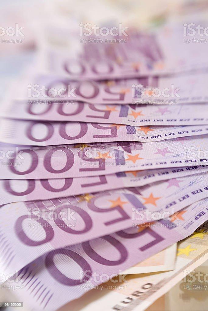 Money / Exchange - European Currency :  500 ? Euro Bank Notes stock photo