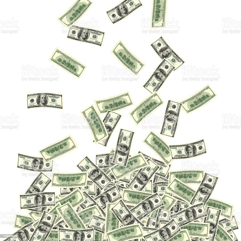 money fall royalty-free stock photo