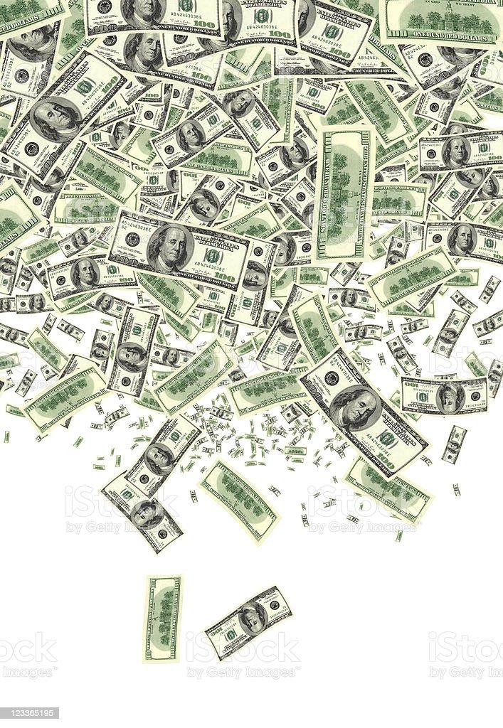 money fall stock photo
