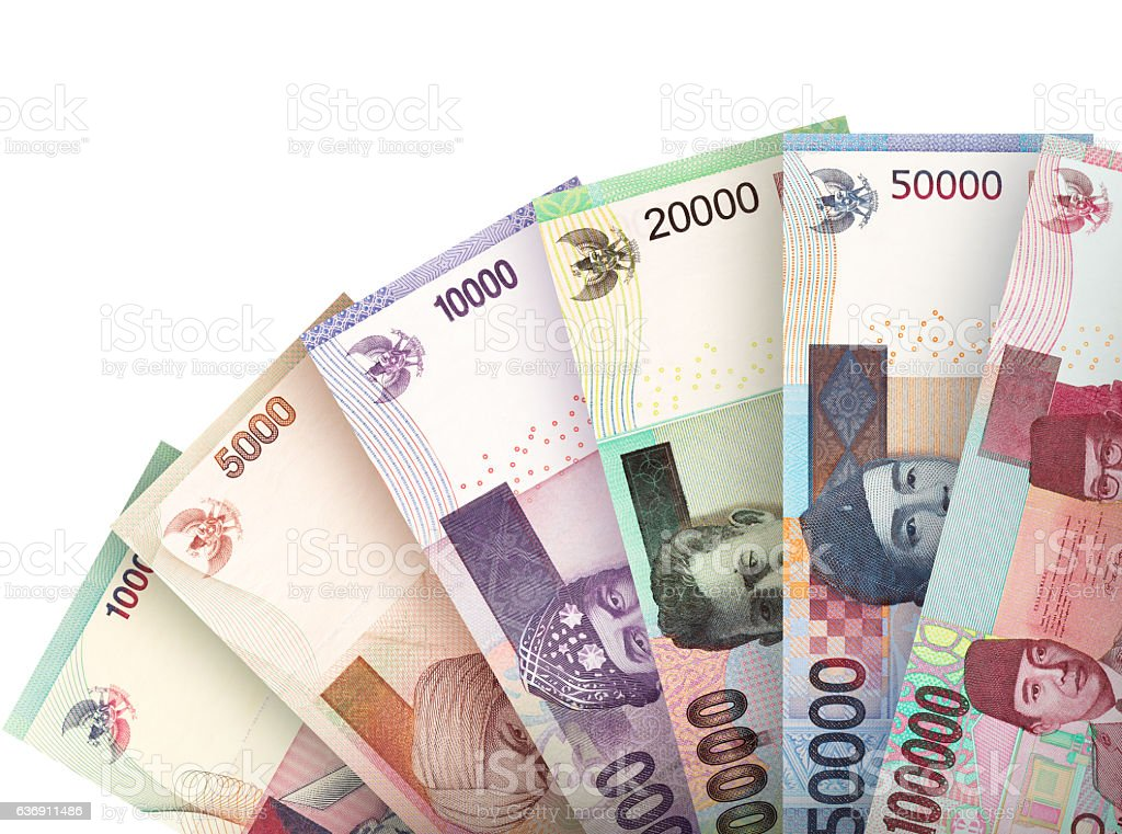 Money fan background stock photo