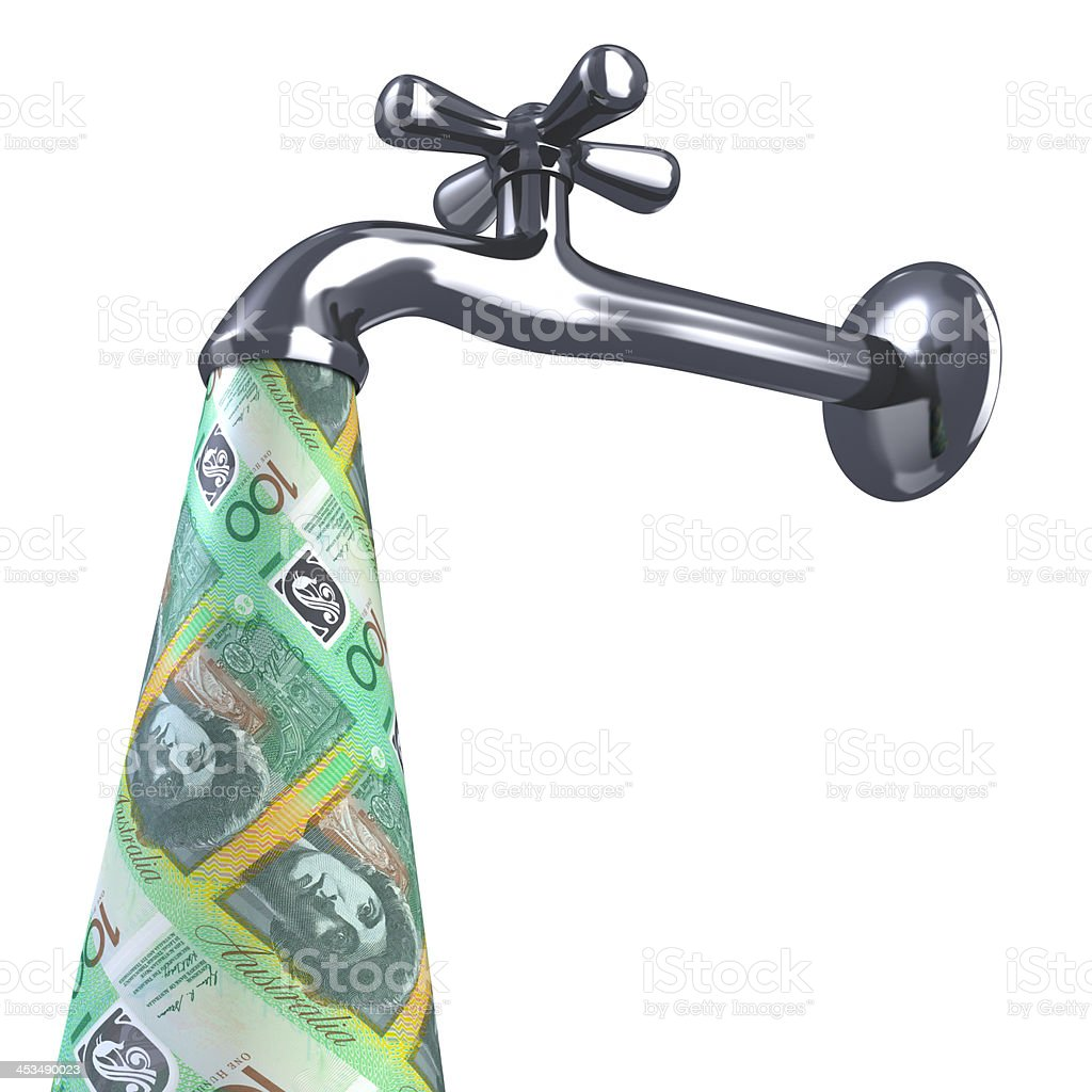 Money faucet. royalty-free stock photo