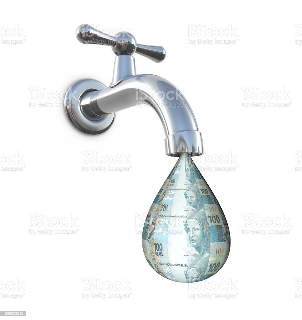 Money Faucet stock photo