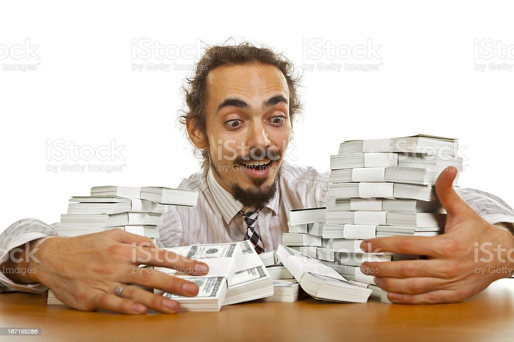 Money fever stock photo