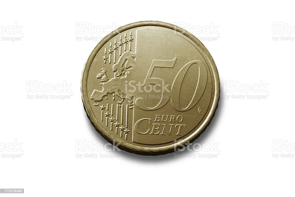 Money: Fifty Eurocent royalty-free stock photo