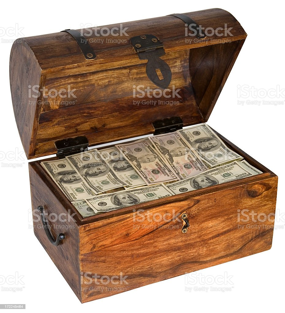 money filled box royalty-free stock photo