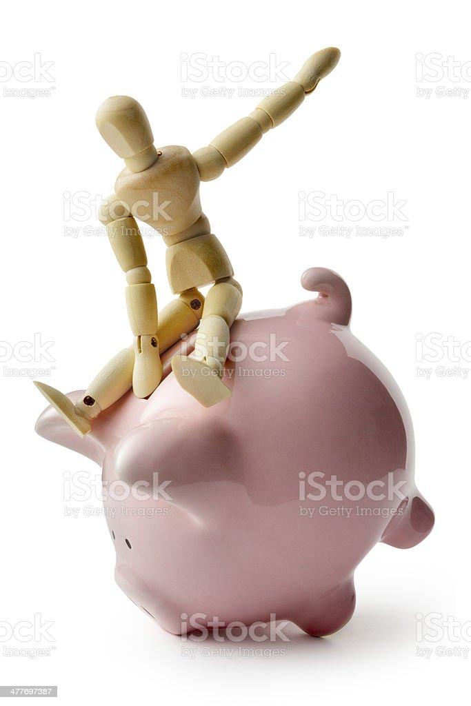 Money: Financial Rodeo royalty-free stock photo