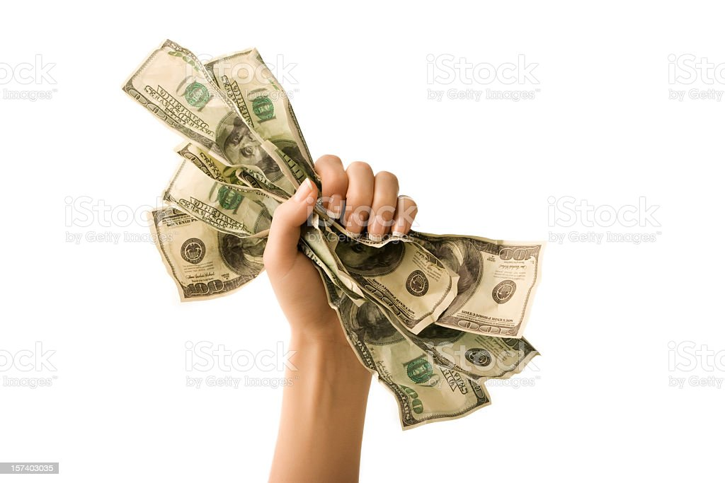 Money fist stock photo
