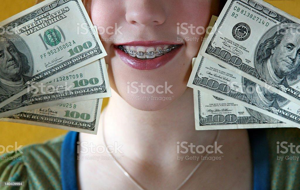 Money for Braces stock photo