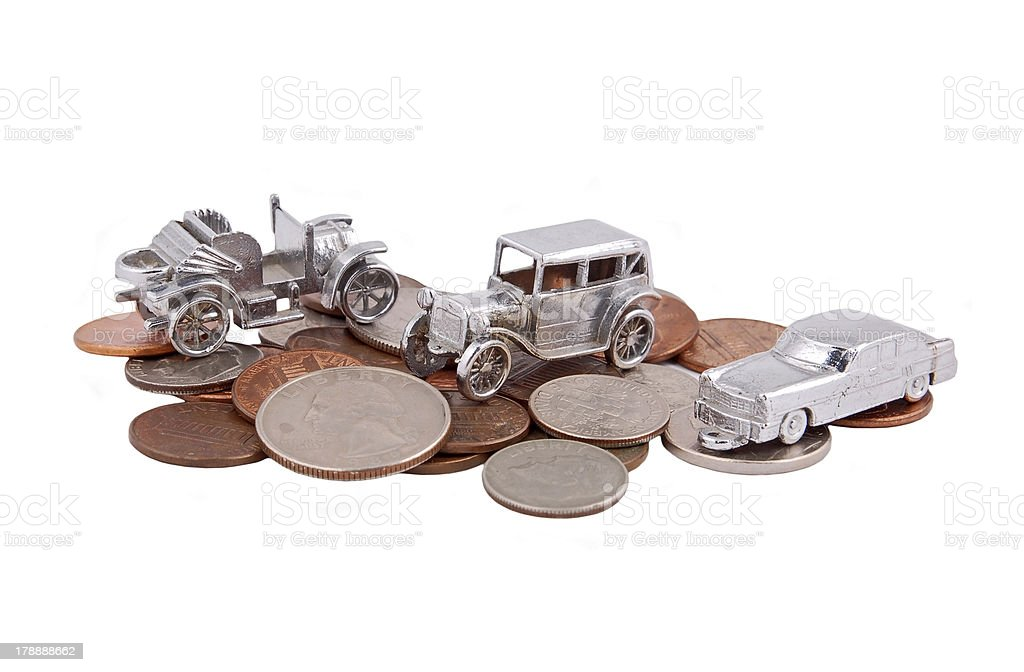 Money for car royalty-free stock photo